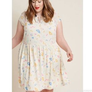 ModCloth Fun With Fab On Top Easy Fit Dress, 3X